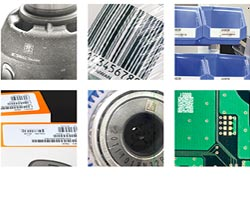 six barcode examples 1d and 2d codes