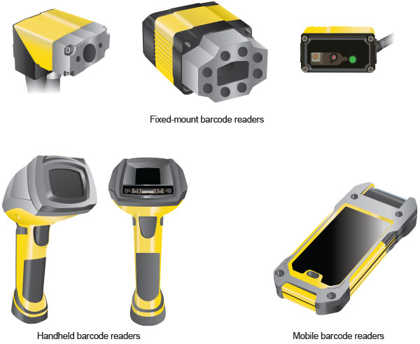 Types of Barcode Readers - fixed-mount, handheld, mobile