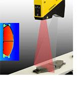 cognex 3d displacement laser scanning brake pad