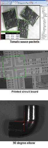 cognex software packet location, printed circuit board verification, part orientation