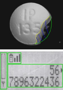 machine vision detects broken pill