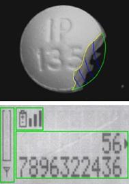 machine vision detects broken pill