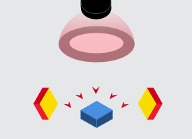 Diffuse Dome Lighting example for machine vision inspection
