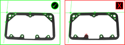 Automotive Gasket Inspection missing hole failed inspection
