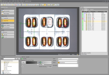 EasyBuilder screenshot of pill packaging