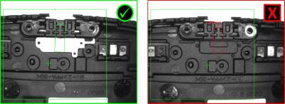 Electronics Gasket Inspection presence check pass fail