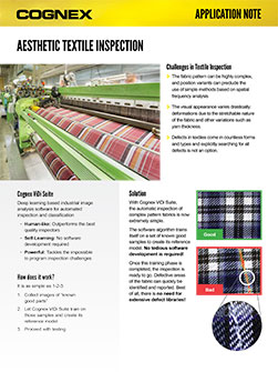 Aesthetic Textile Inspection Application Note
