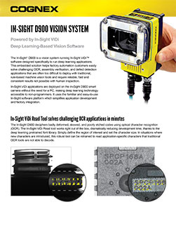 In-Sight D900 Vision System