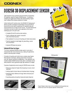 Cognex DS925B 3D Displacement Sensor Datasheet