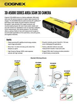 Cognex 3D-A5000 Datasheet Standard
