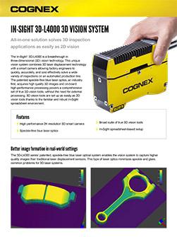 Ficha técnica del In-Sight 3D-L4000