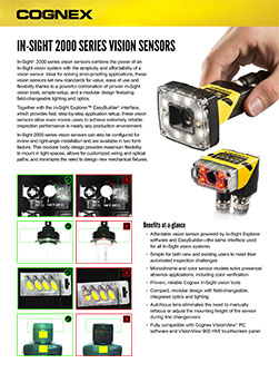 In-Sight 2000 Datasheet