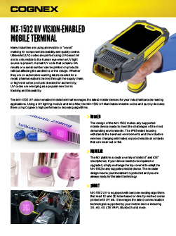 MX-1502 UV Vision Enabled Mobile Terminal