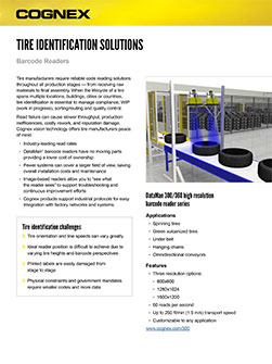 Tire Identification Solutions Datasheet