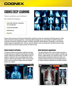 VisionPro ViDi for Medical Imaging Datasheet