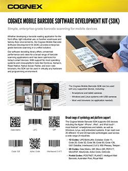 Cognex Mobile Barcode SDK Datasheet