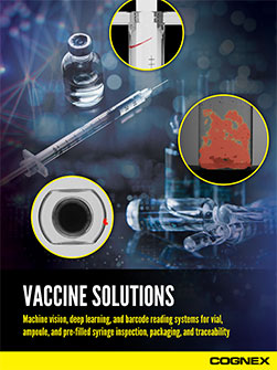 Cognex Vaccine Solutions Guide