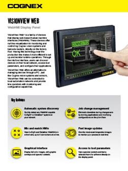 VisionView Display Panel and Web HMI