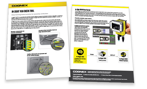 In-Sight ViDi Check Tool Datasheet