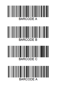 Multi-code - 4 barcode example