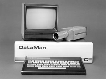 cognex company history first Dataman computer with keyboard