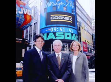 cognex company history founders at nasdaq tower for IPO
