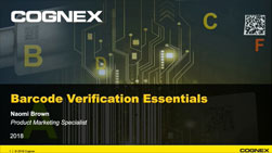 Barcode Verification Essentials