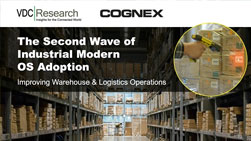 warehouse of boxes scanned with cognex mobile computer second wave of OS adoption