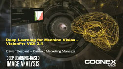camera lens and yellow brain cognex vidi deep learning webinar title screen