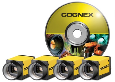 Cognex GigE CIC industrial cameras with software disc