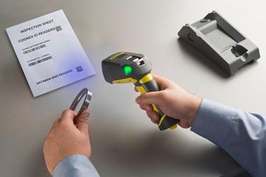 DataMan8000 switch between reading metal DPM and printed datamatrix wireless blue light scanning