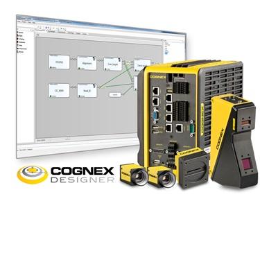 3D multi-camera vision system in front of Cognex software designer preview