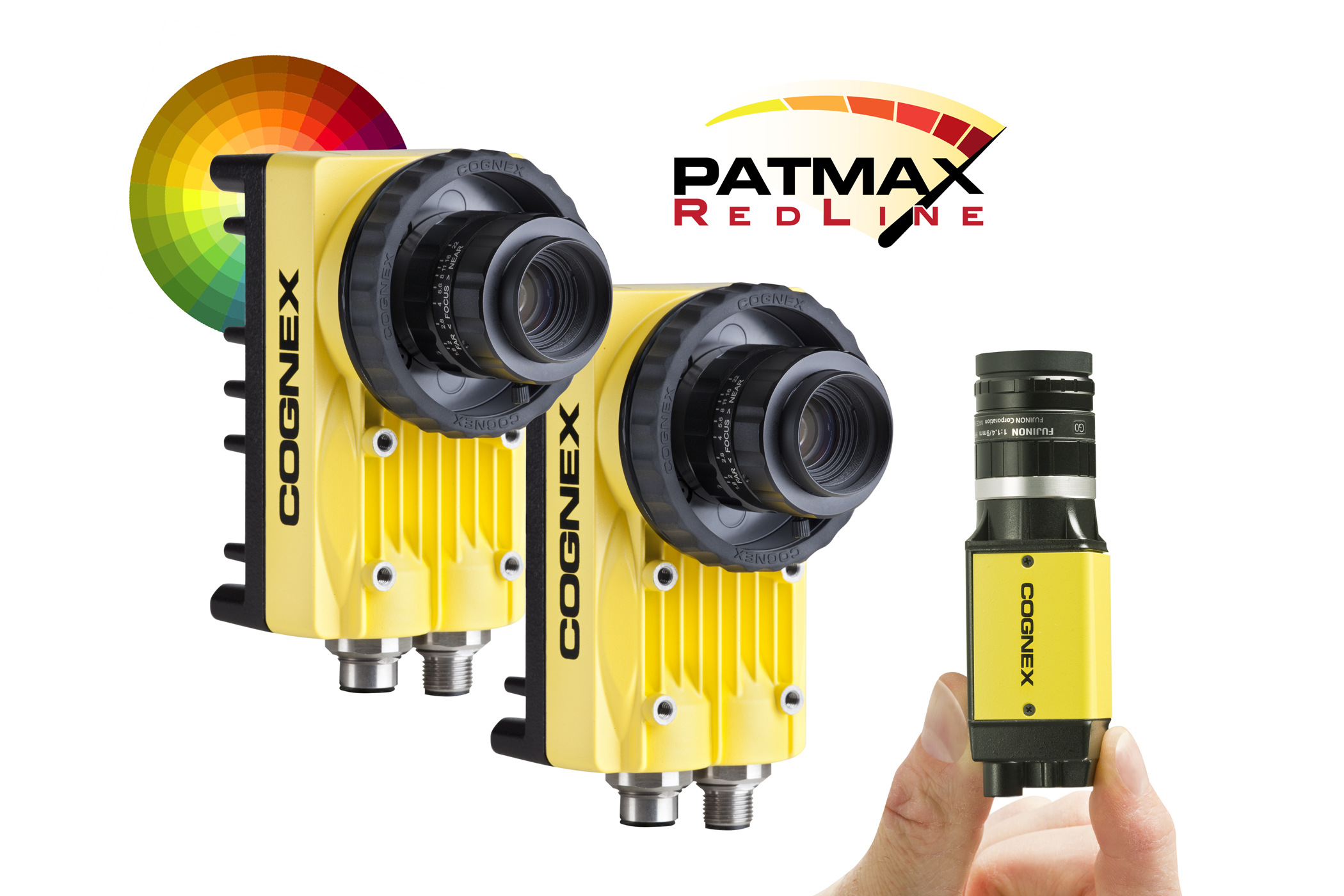 Two In-Sight 5705 and 8405 with color wheel and Patmax redline logo