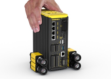 In-Sight VC200 series multi smart camera vision system four IS8000 and hand on PLC