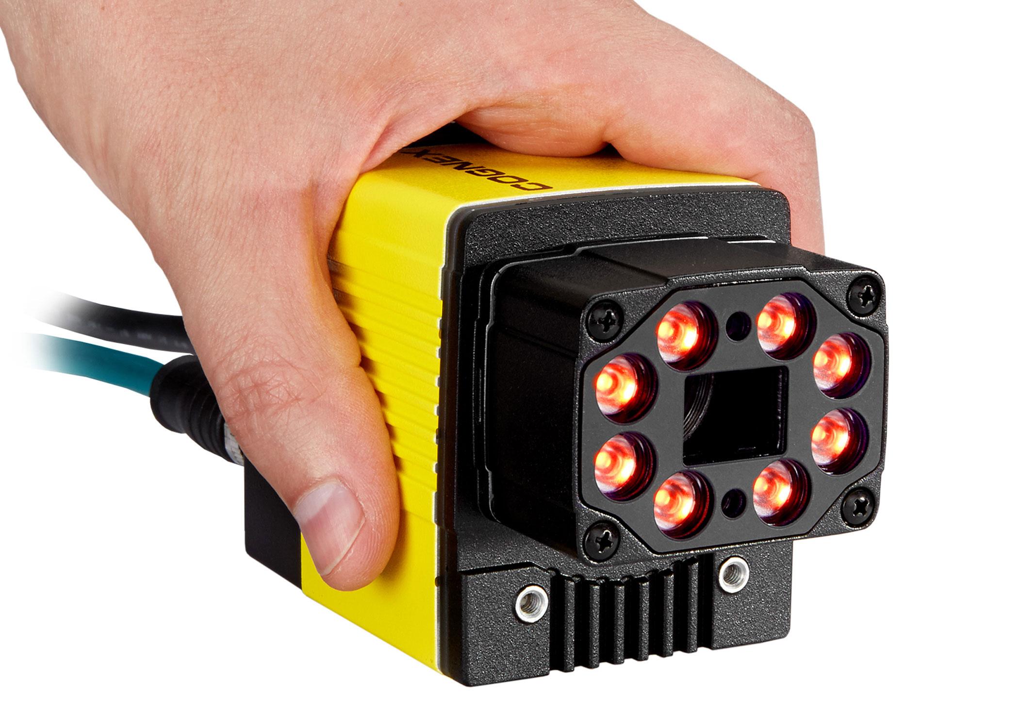 hand holding cognex DataMan 470