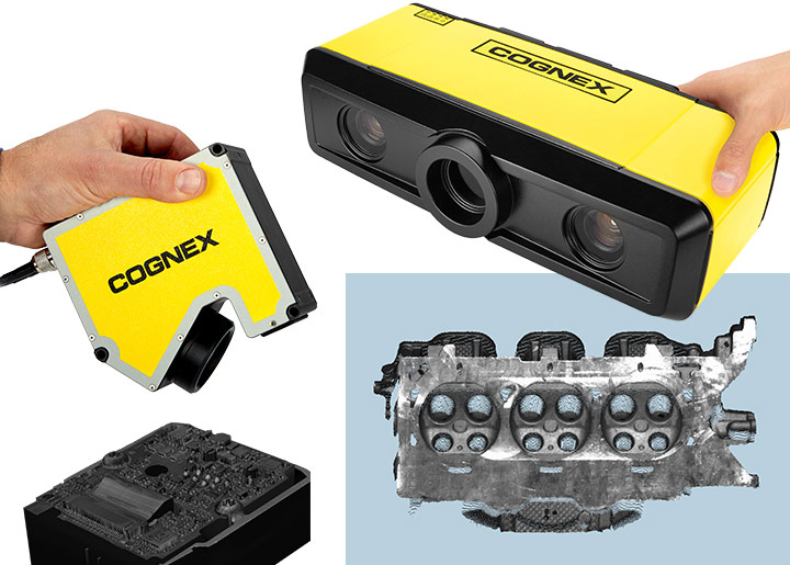 3DSMax and 3DA-5000 with example part and scanned acquired image of automotive part