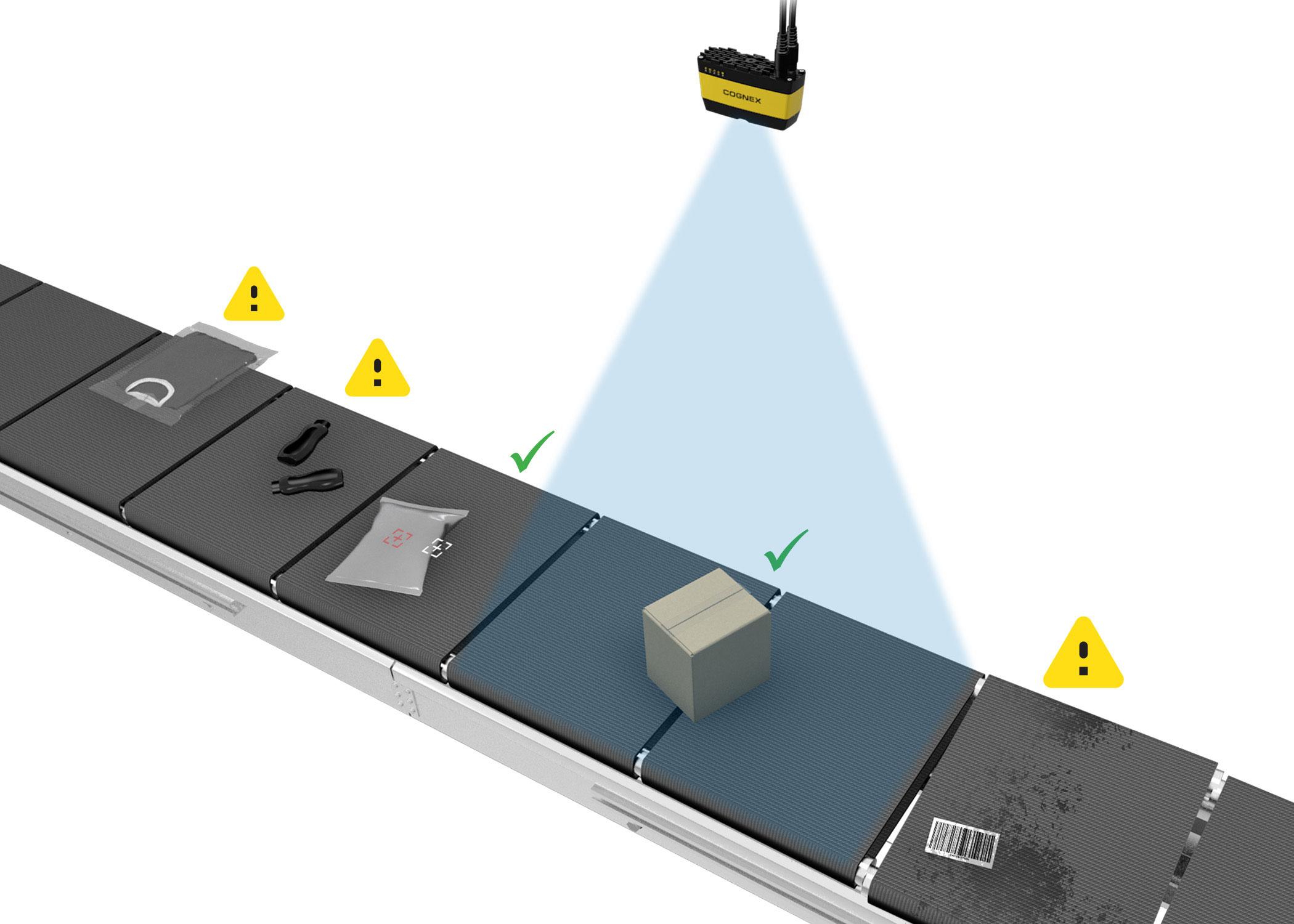 3D-A1000 Item Detection on conveyor