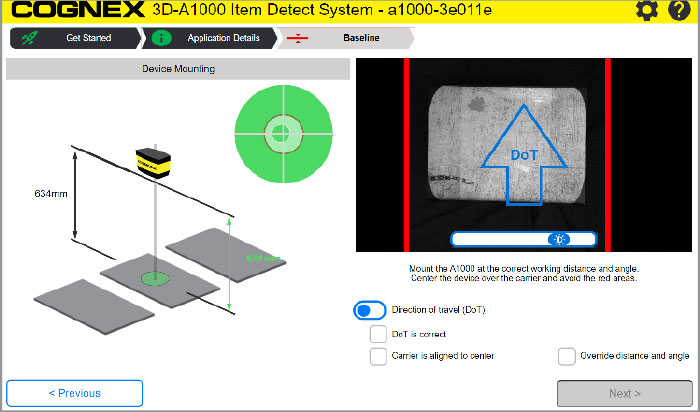 3D-A1000 identifying DOT, direction of travel