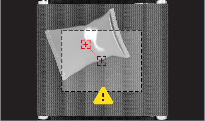 system identifying item misplaced on conveyor