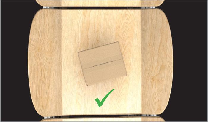 identify box on low contrast conveyor