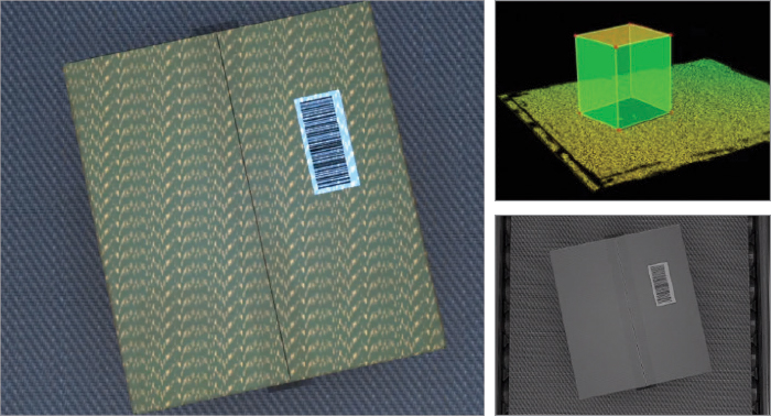 2D and 3D images of a package