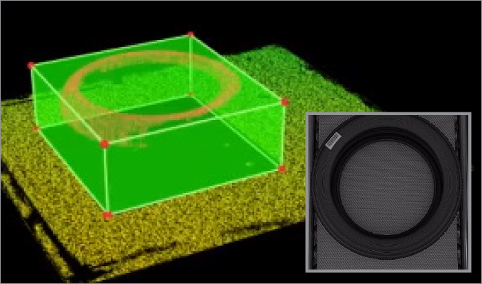 3D point cloud profile data of a tire