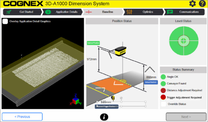 Screen shot of 3D-A1000 software