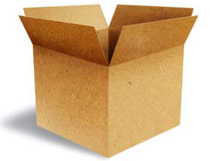 open empty box rendered image