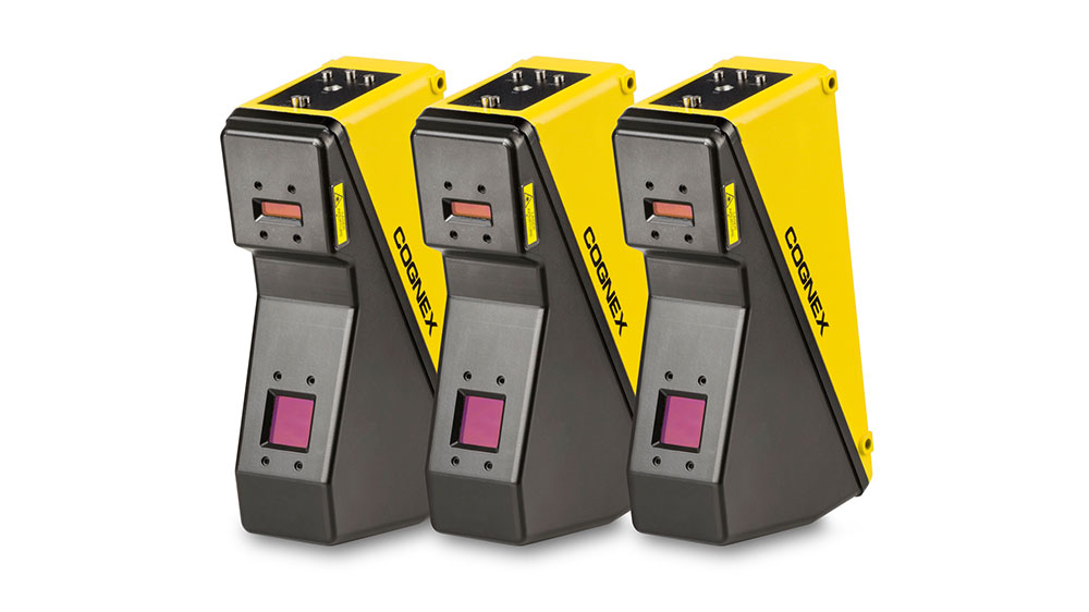 Three Cognex DS1000 laser displacement sensors