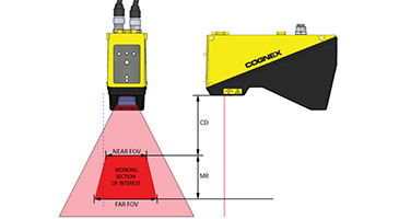 Cognex DS1000 Field of View guide with measurements