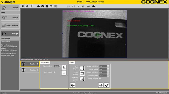 AlignSight software screen