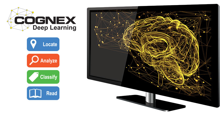 Brain on computer - Cognex Deep Learning - Locate, Analyze, Classify, Read