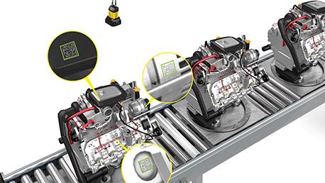 Cognex DM370 Application reading DPM codes on automotive engines