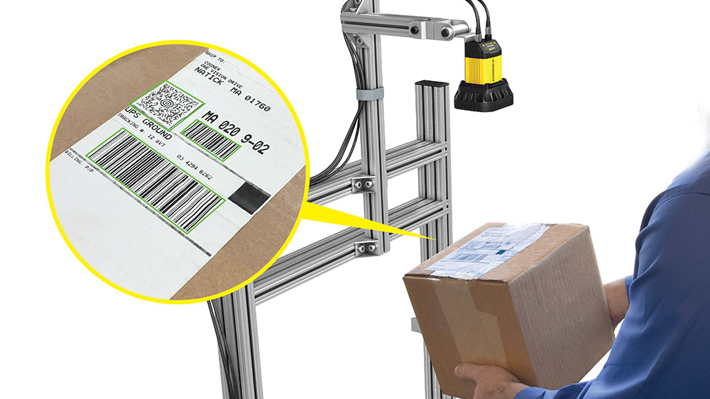 Cognex DM370 presentation scanning package labels